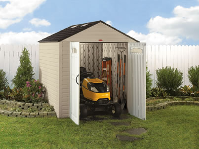 Shed Reviews Rubbermaid Fg371301sanwn Max Jr Weather Resistant Outdoor Plastic Storage 6x9